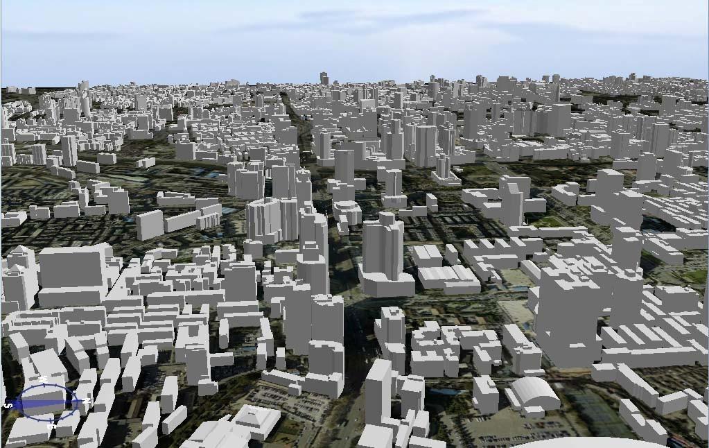 以上基于激光点云构建的建筑物模型为三维白模